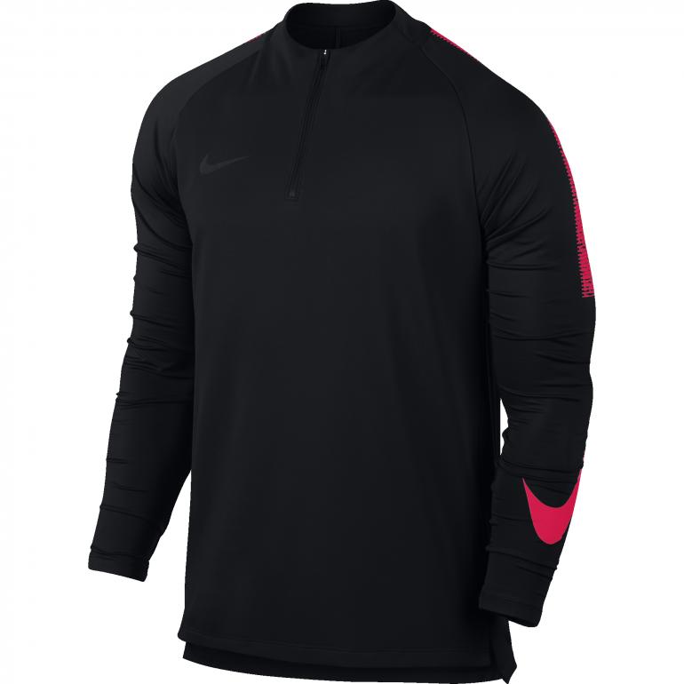 Sweat zippé Nike noir rose 2018/19