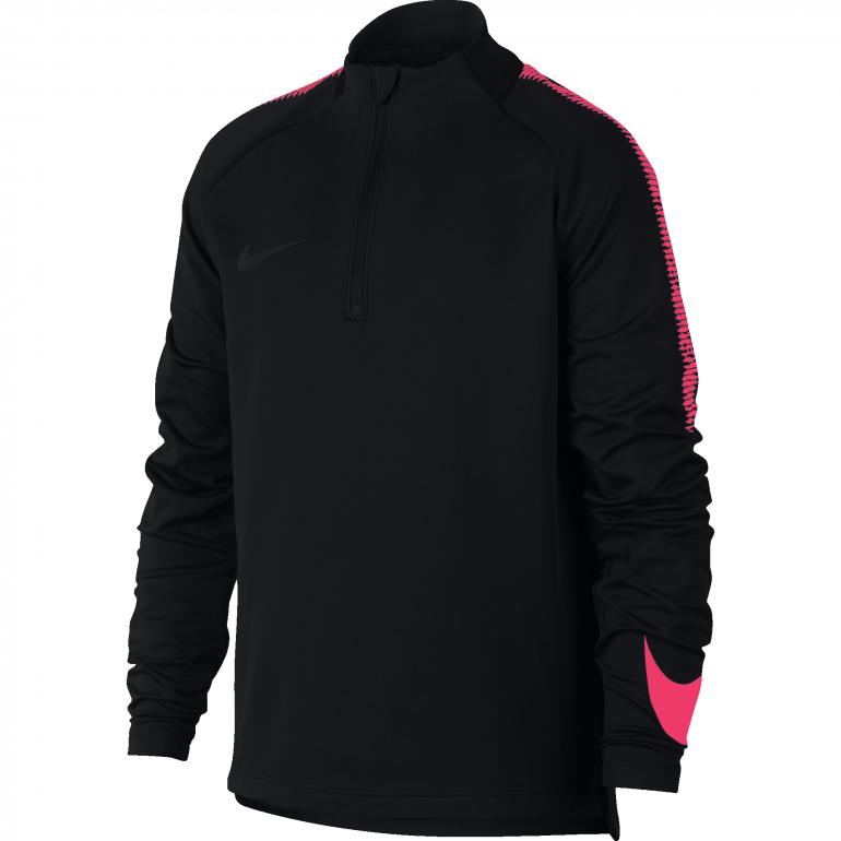 Sweat zippé junior Nike noir rose 2018/19