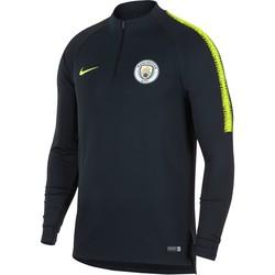 Sweat zippé Manchester City noir jaune 2018/19