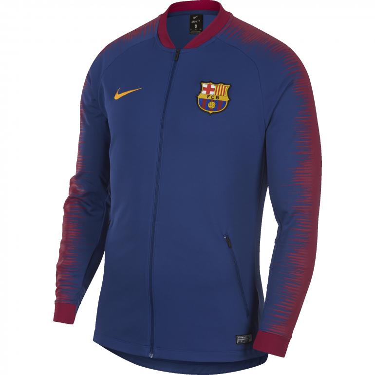 Veste survêtement FC Barcelone bleu rouge 2018/19
