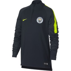 Sweat zippé junior Manchester City noir jaune 2018/19