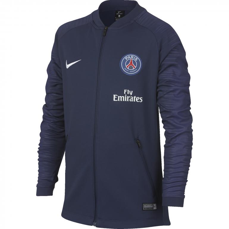 Veste survêtement junior PSG bleue 2018/19