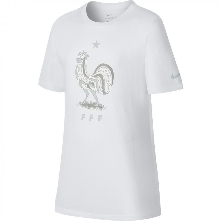 T-shirt junior Equipe de France blanc 2018