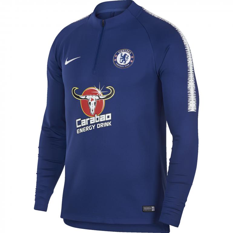 Sweat zippé Chelsea bleu 2018/19