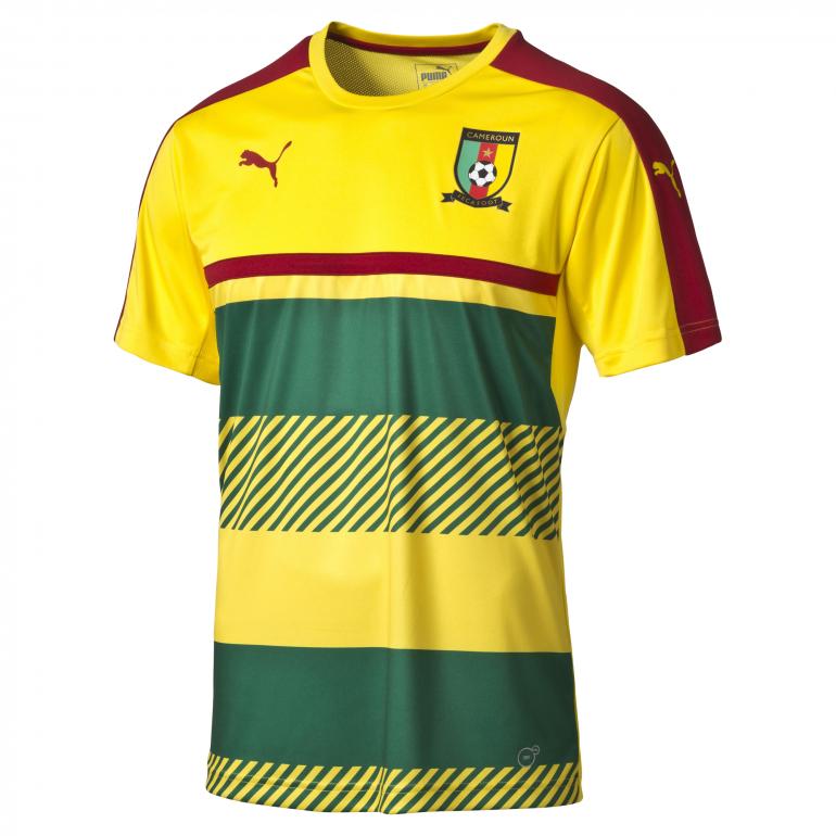 Maillot entraînement Cameroun jaune et vert CAN 2017
