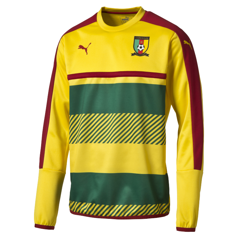 Sweat Training Cameroun jaune et vert CAN 2017