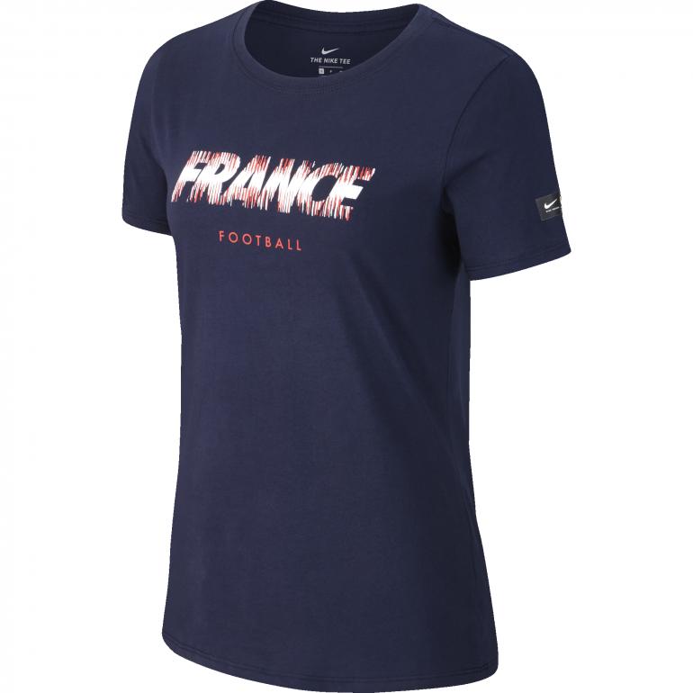 T-shirt Femme Equipe de France bleu foncé 2018