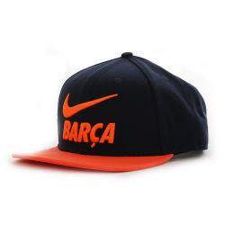Casquette visière plate FC Barcelone orange 2017/18