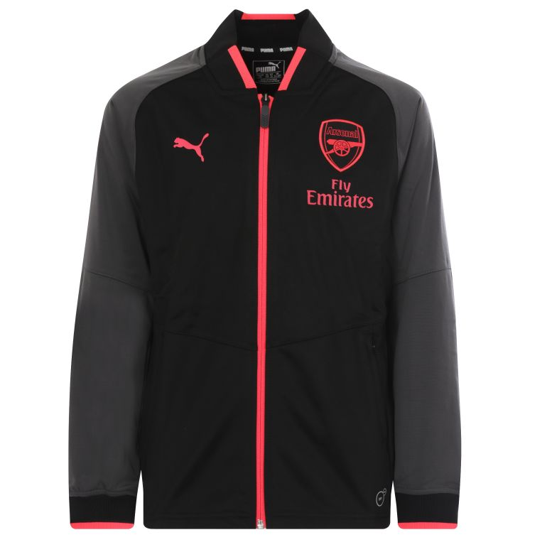 Veste survêtement junior Arsenal third noir 2017/18