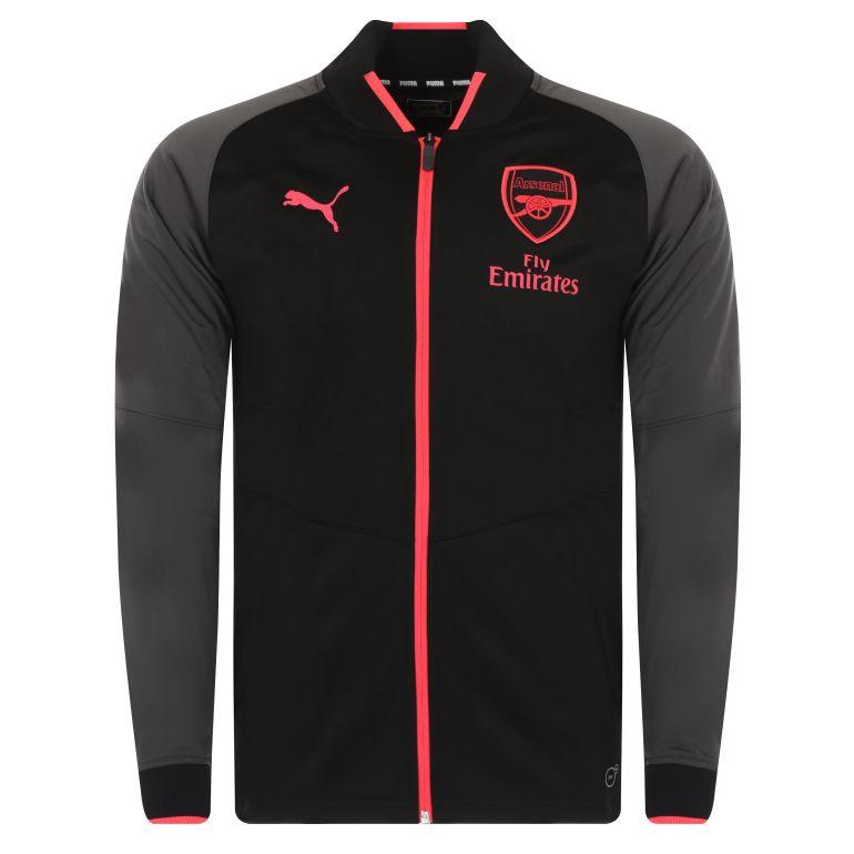 Veste survêtement Arsenal Stadium noir 2017/18
