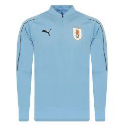 Sweat zippé Uruguay bleu 2018