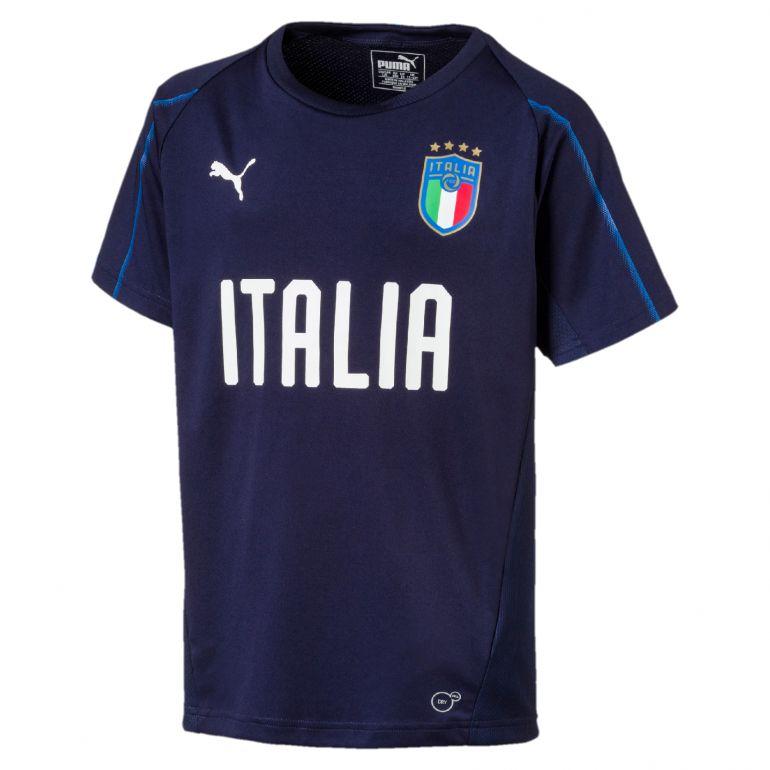 Maillot entraînement junior Italie bleu foncé 2018