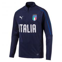 Sweat zippé Italie bleu 2018