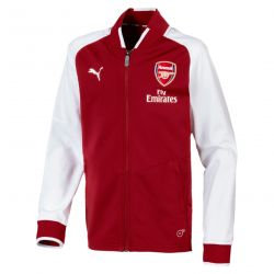 Veste survêtement junior Arsenal rouge blanc 2017/18