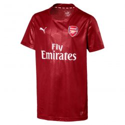 Maillot entraînement junior Arsenal Stadium rouge 2017/18