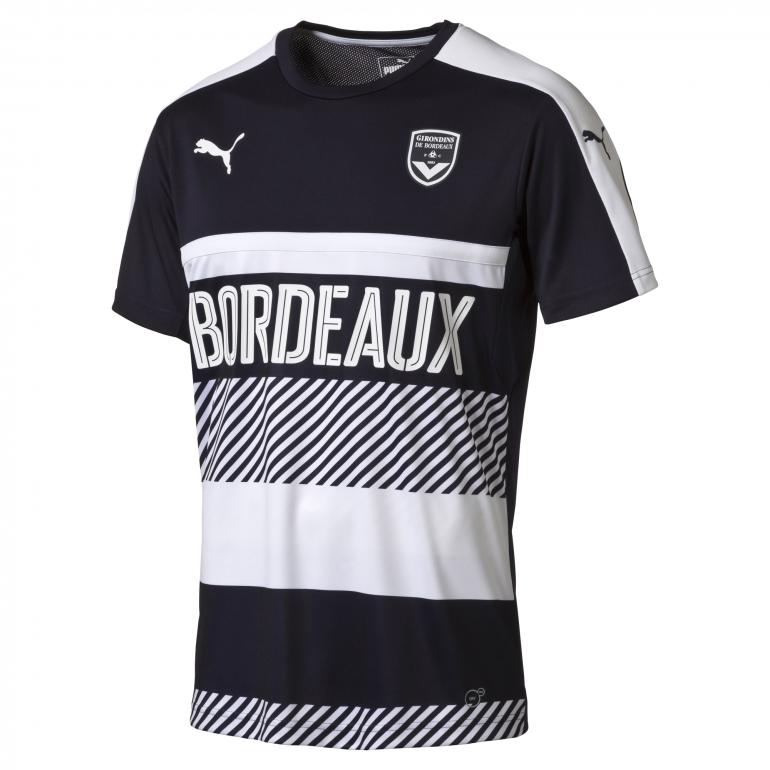 Maillot entraînement Girondins de Bordeaux bleu et blanc 2016 - 2017