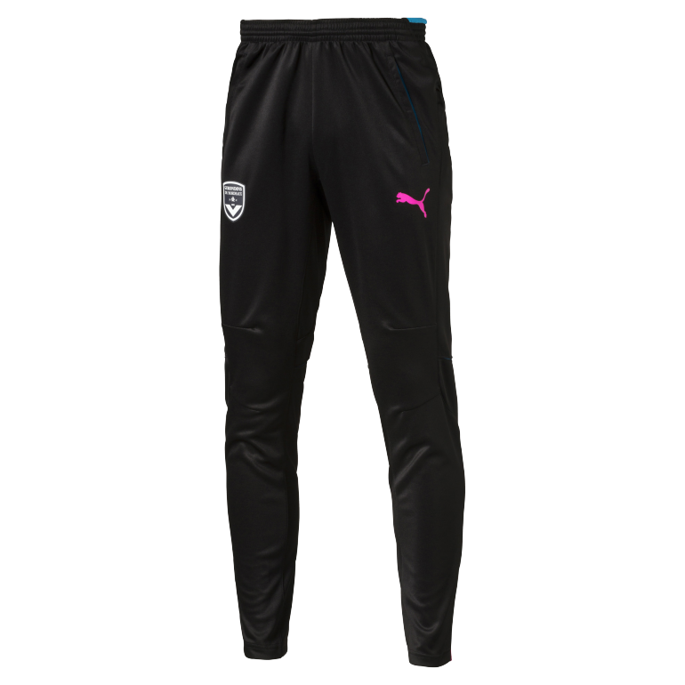Pantalon Survêtement Girondins de Bordeaux noir logo Puma rose 2016 - 2017