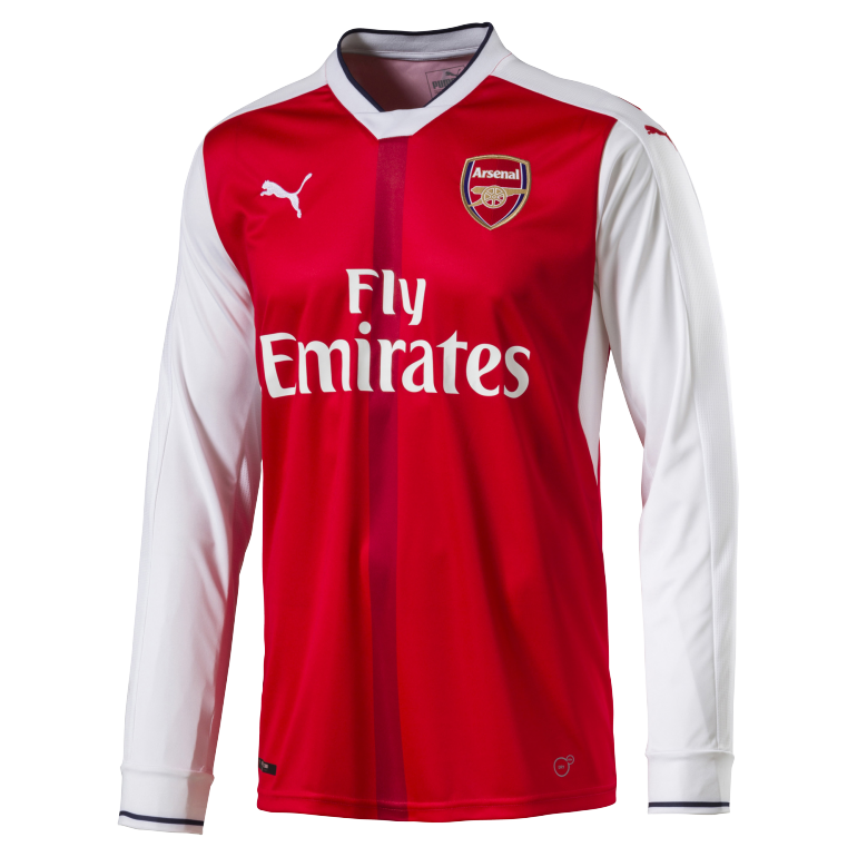 Maillot Arsenal domicile manches longues 2016 - 2017