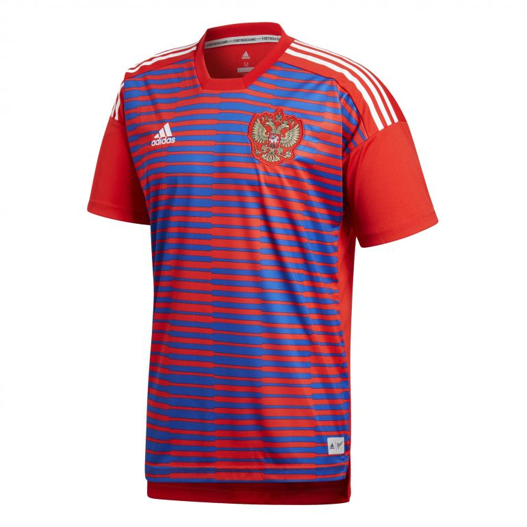 Maillot avant match Russie rouge 2018