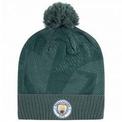 Bonnet Manchester City avec pompon third vert 2017/18