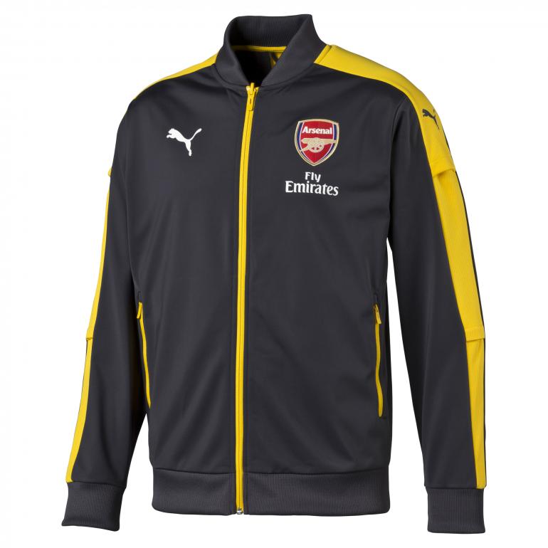Veste survêtement Arsenal noire et jaune 2016 - 2017