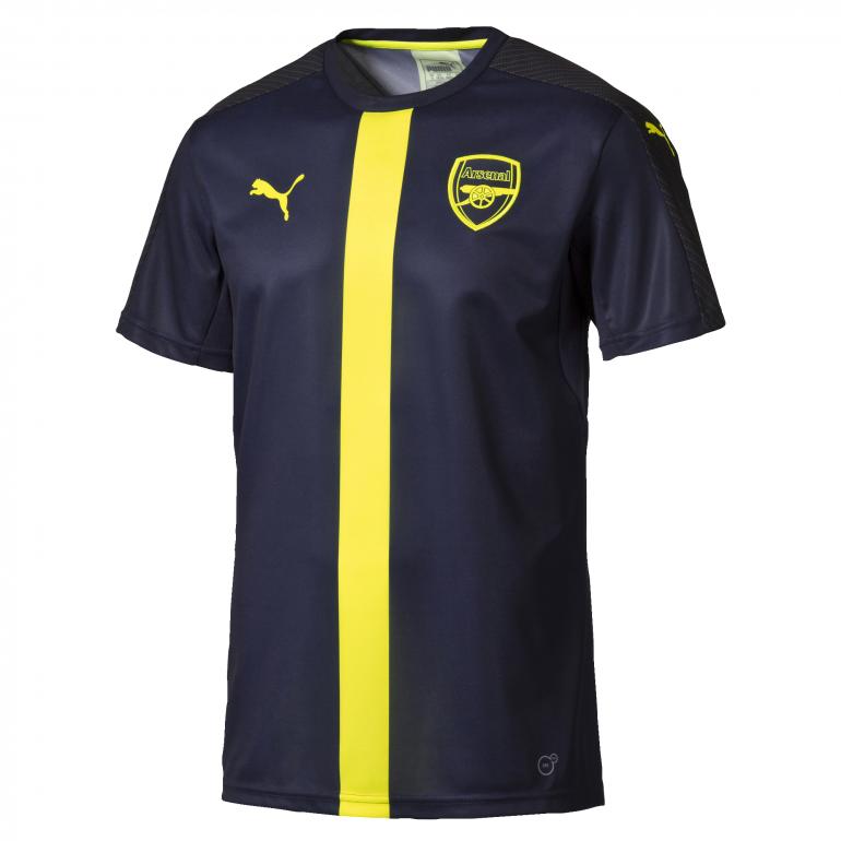 Maillot avant-match Arsenal bleu bande jaune 2016 - 2017