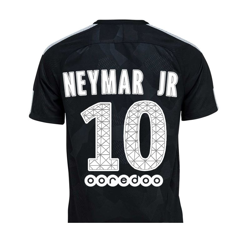 maillot junior neymar psg third 2017 18 sur. Black Bedroom Furniture Sets. Home Design Ideas