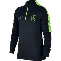 Sweat zippé junior Neymar noir vert 2016