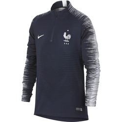 Sweat zippé junior Equipe de France VaporKnit bleu 2018