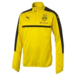 Sweat Training Dortmund 1/4 zippée jaune 2016 - 2017