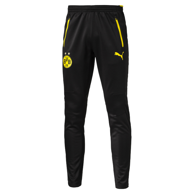 Pantalon survêtement Dortmund noir logo jaune 2016 - 2017