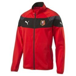 Veste survêtement Stade Rennais rouge et noire 2016 - 2017