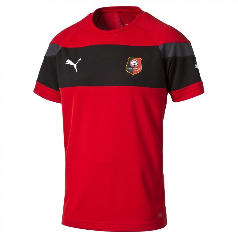 Maillot entraînement Stade Rennais rouge et noire 2016 - 2017