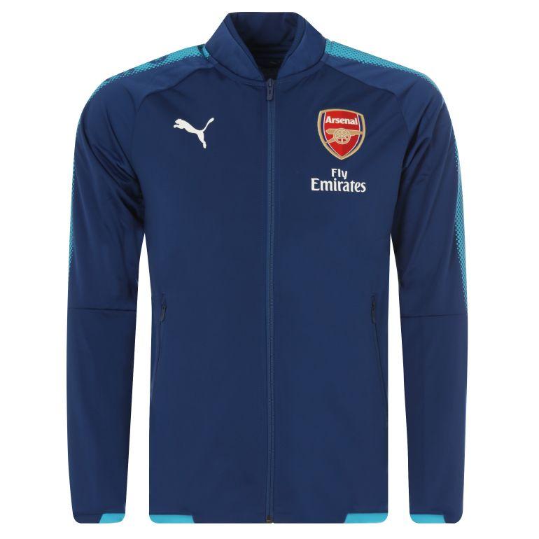 Veste survêtement Arsenal bleu 2017/18