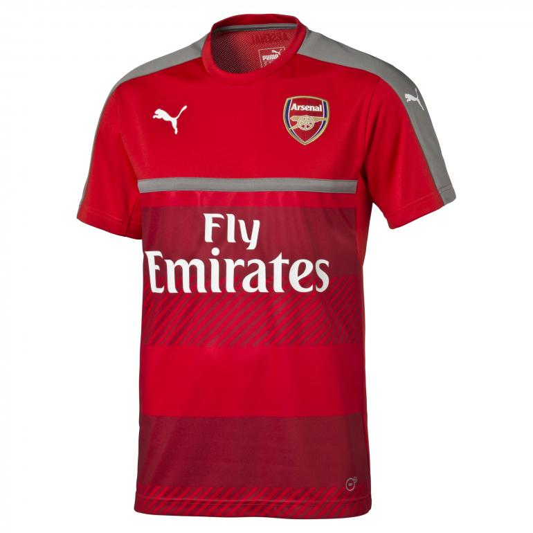 Maillot entraînement junior Arsenal rouge 2016 - 2017