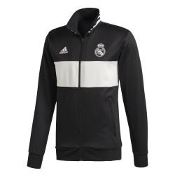 Veste survêtement Real Madrid 3S noir blanc 2018/19