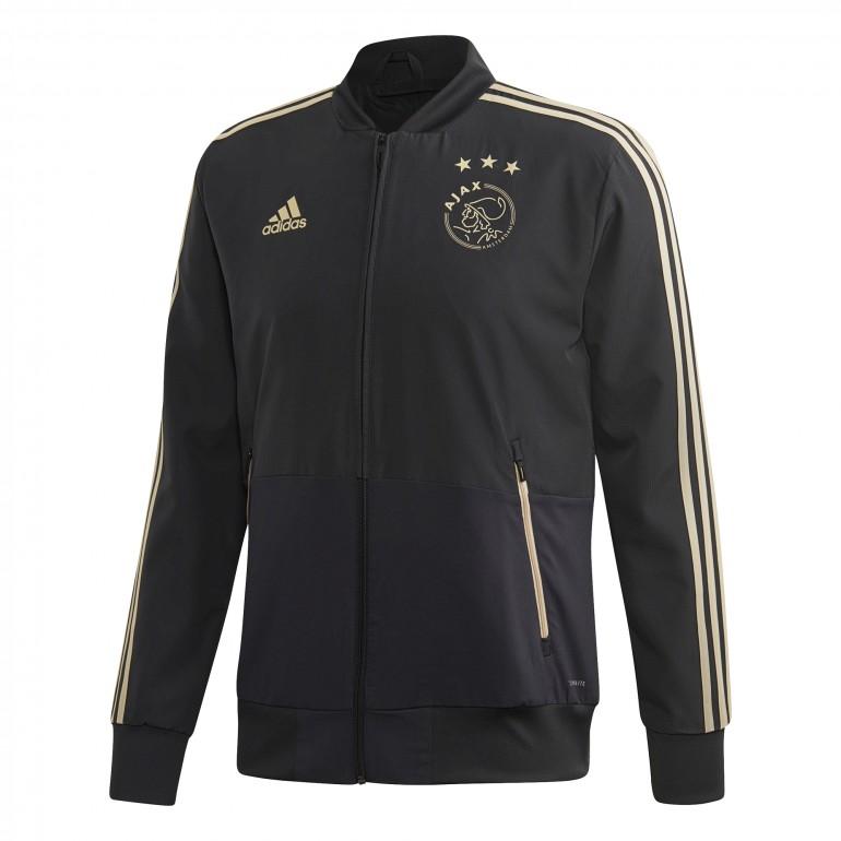 Veste entraînement Ajax Amsterdam noir or 2018/19