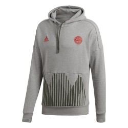 Sweat à capuche Bayern Munich gris 2018/19