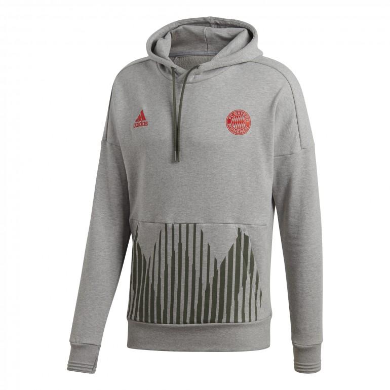 Sweat à capuche Bayern Munich gris 2018/19