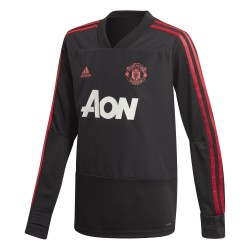 Sweat entraînement junior Manchester United noir 2018/19