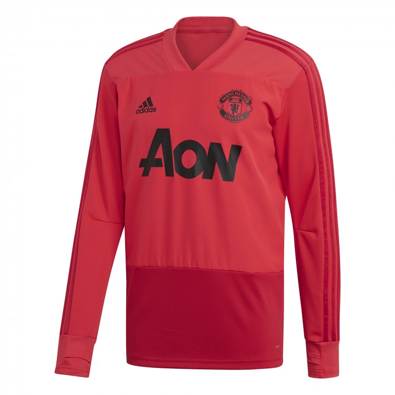 Sweat entraînement Manchester United rouge 2018/19