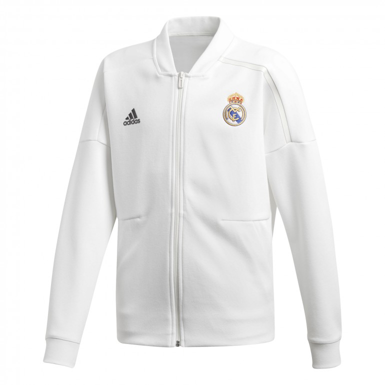 Veste survêtement junior Real Madrid ZNE blanc 2018/19