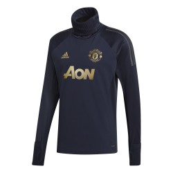 Sweat col montant Manchester United Europe bleu 2018/19