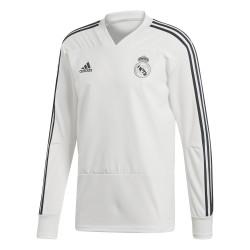 Sweat entraînement Real Madrid blanc 2018/19