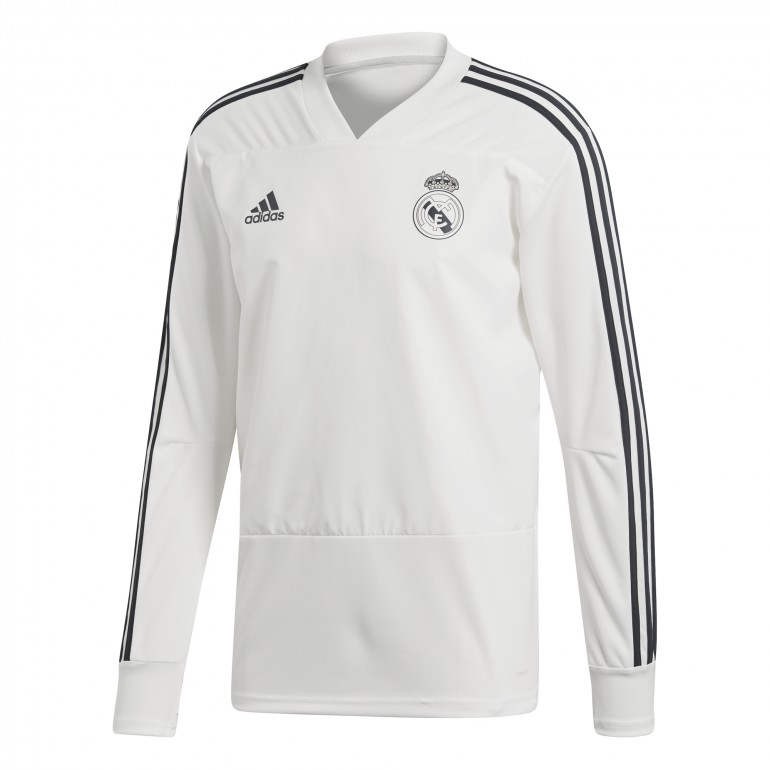 Sweat entraînement Real Madrid blanc 2018/19