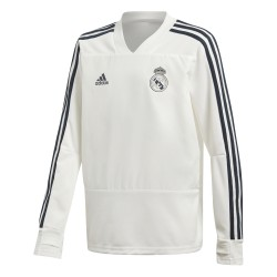 Sweat entraînement junior Real Madrid blanc 2018/19