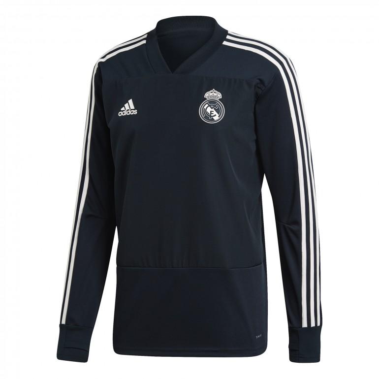 Sweat entraînement Real Madrid bleu nuit 2018/19