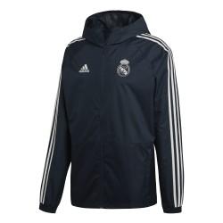 Veste imperméable Real Madrid bleu foncé 2018/19