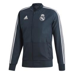 Veste survêtement Real Madrid bleu foncé 2018/19