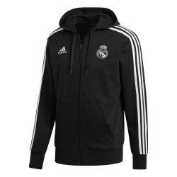 Veste survêtement à capuche Real Madrid 3S noir 2018/19
